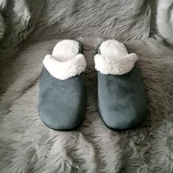 Green Isotoner slippers